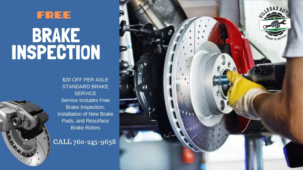 free brake inpection at Villegas Auto Repair & Service