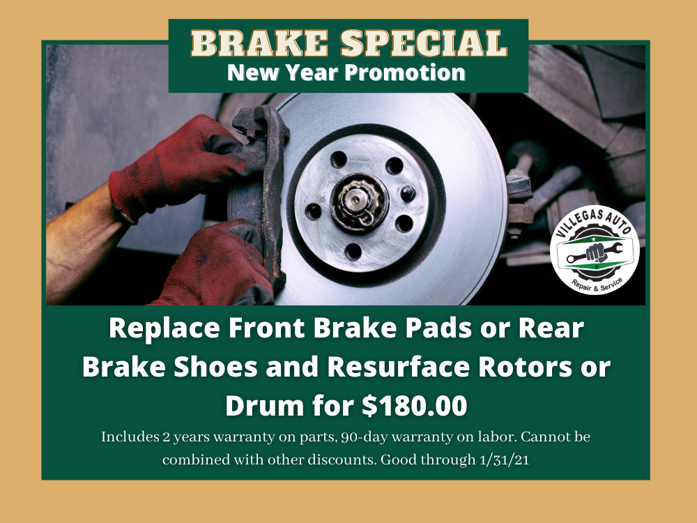 Auto Brake Special Promotion - Villegas Auto Repair and Service